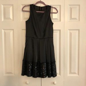 Black and sequence Taylor Dress